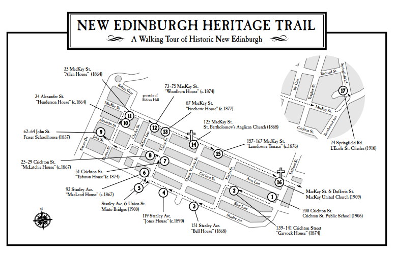 New Edinburgh Heritage Walking Trail Map